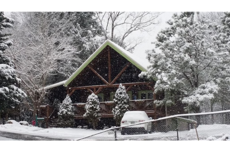 Winter Scene Cabin
